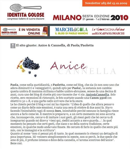Anice&Cannella su Identità Golose