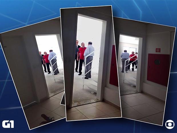 Fotos obtidas pelo Jornal Nacional mostra Lula dentro do apartamento triplex no Guarujá (Foto: TV Globo/Reprodução)