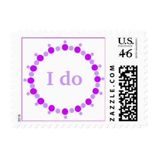 I do, wedding postage stamps, lavender ring stamp