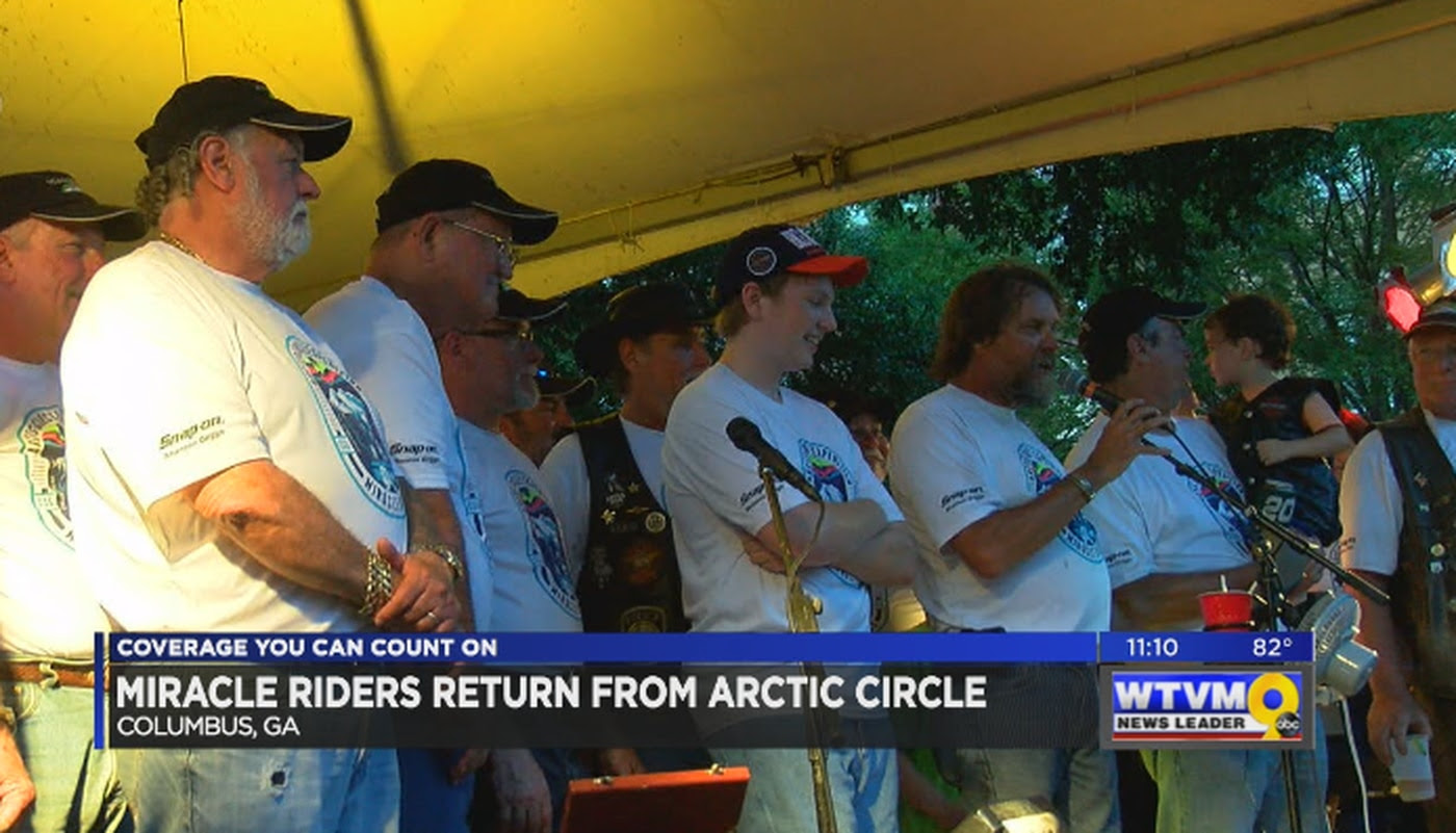 Block Party Held For Miracle Riders Return From Arctic Circle
