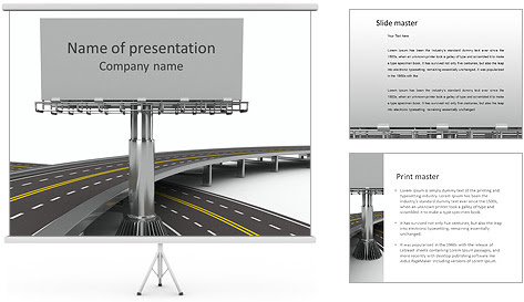 Highway Billboard PowerPoint Template & Backgrounds ID 0000004270 ...