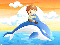 Puzzle en ligne, le dauphin