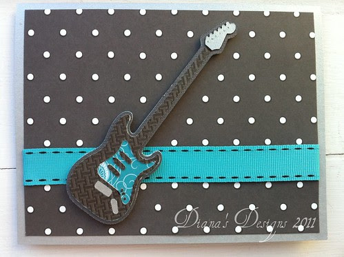 Cricut Indie Art Electric Guitar Card