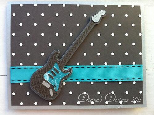 Cricut Indie Art Electric Guitar Card