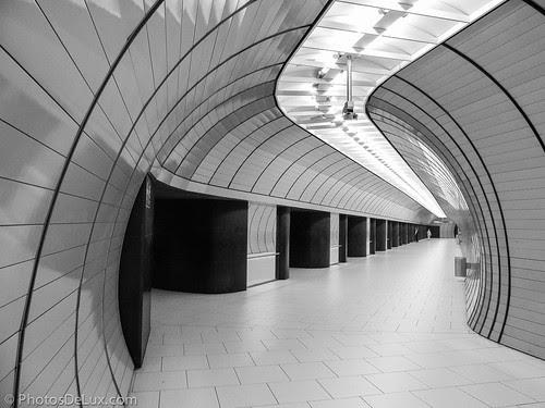 Munich Marienplatz Station - Fuji X10 sample