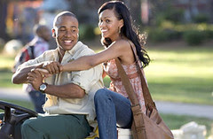 """Columbus Short and Meagan Good in """"Stomp The Yard"""""""