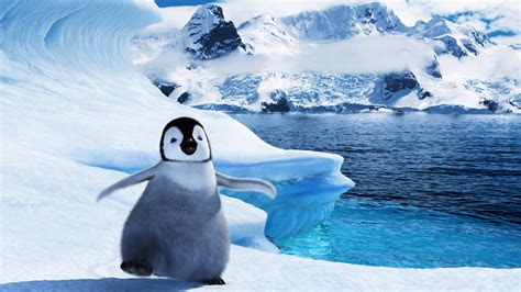 full hd wallpaper happy feet  amusing penguin iceberg