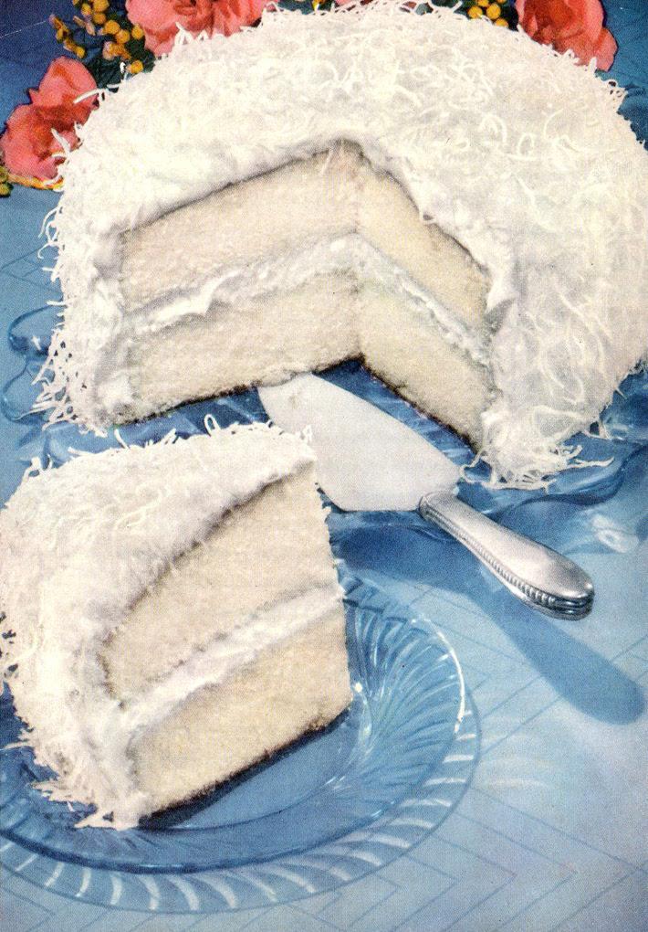 Retro Recipe:  Coconut Queen Party Cake