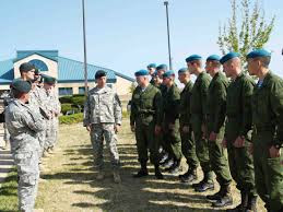 This picture and  depicts Russian soldiers at Ft. Carson. The Russians and other foreign troops (e.g. Germans, Canadians, Danes) are part of Jade Helm. They are here to carry out the mission should American troops stand down.