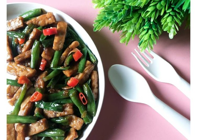 Resep Mudah Tumis kacang panjang dan tempe Yang Enak