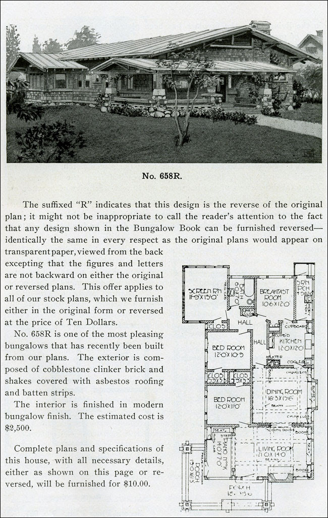 1910 - The Bungalow Book - No. 658R