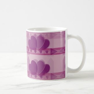 Hearts Design on Coffee/Tea Mug