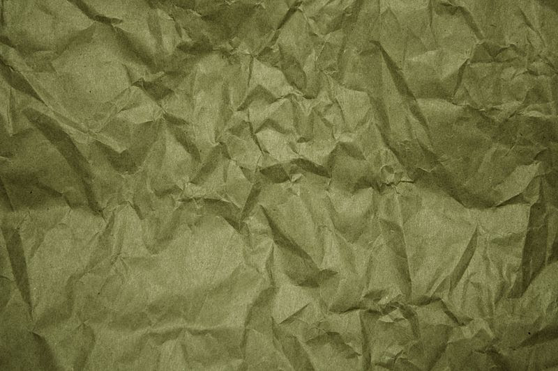 File:Crumpled olive green paper.jpg