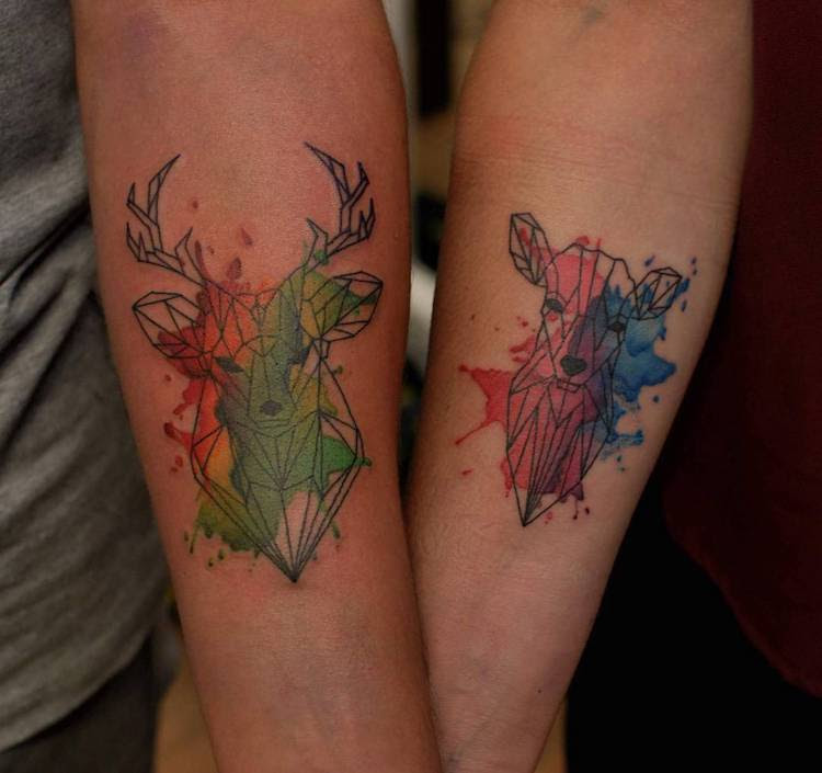Creative Couple Tattoos That Celebrate Love's Eternal Bond