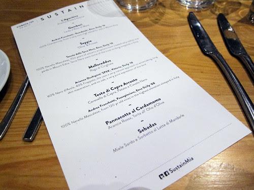 sustainable cobaya menu