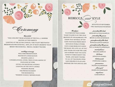 2 Modern Wedding Program and Templates   Wedding Planning