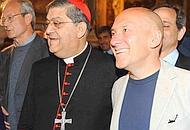 Claudio Velardi col cardinale Sepe