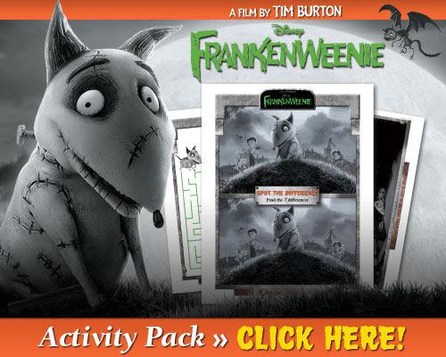 Download Frankenweenie Activity Pack