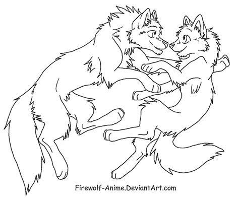 wolf float lineart  firewolf anime  deviantart