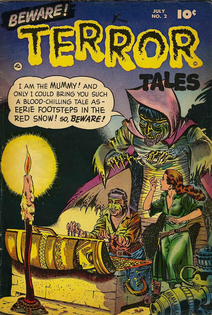 Beware Terror Tales #2 Bernard Bailey Cover (Fawcett, 1952)