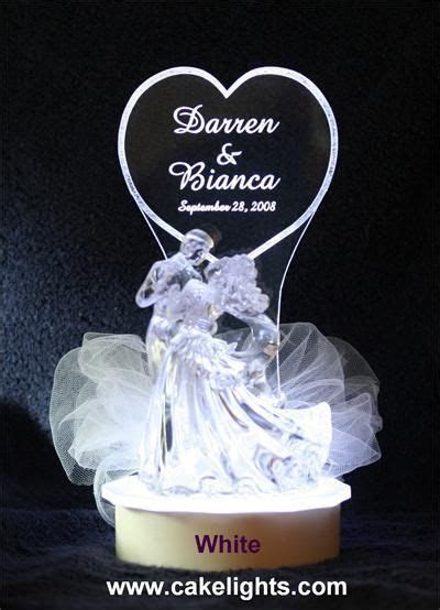 lighted wedding cake topper   Lighted Personalized Bride