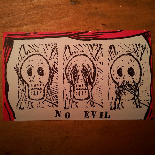 Hear no evil, see no evil, speak no evil by Jaime Haney