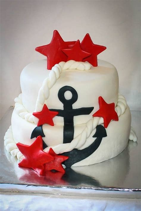 17 Best ideas about Anchor Cakes on Pinterest   Blue cakes