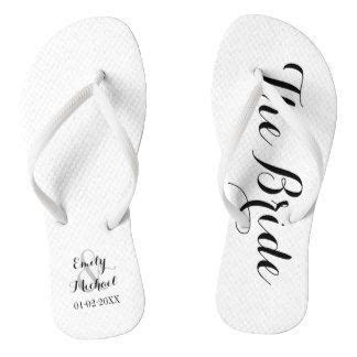 Beach Wedding Bride Flip Flops   Zazzle.co.uk   Beach