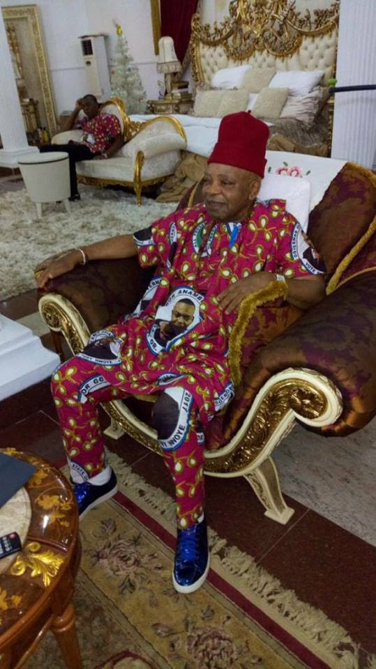 Billionaire Arthur Eze Relaxes In His Mansion Ahead Of Anambra Election (Photo)