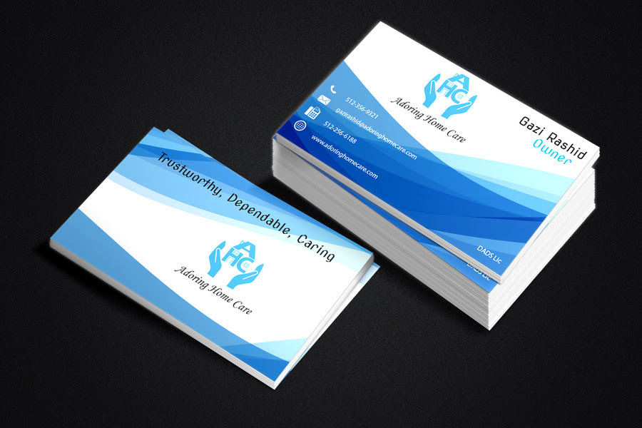 Adoring Home Care Business Cards - Austin Tx Web