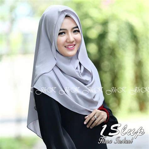 jilbab  slup hana instan model kekinian  terbaru