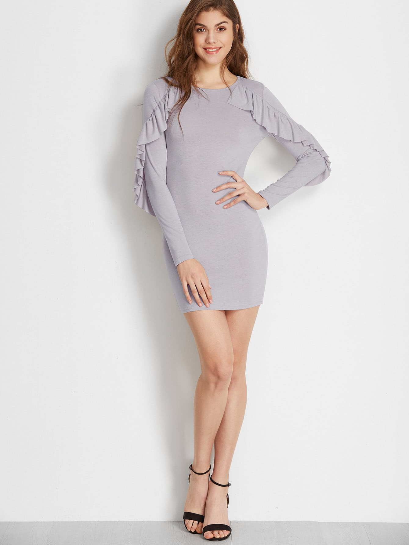 Size dress with fabric up bodycon bottom ruffle pinterest
