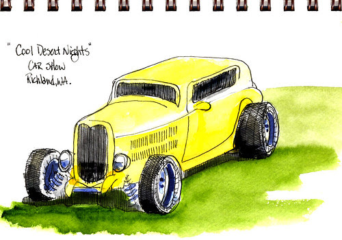 """Cool Desert Nights"" car show in Richland by jimbmgarner"