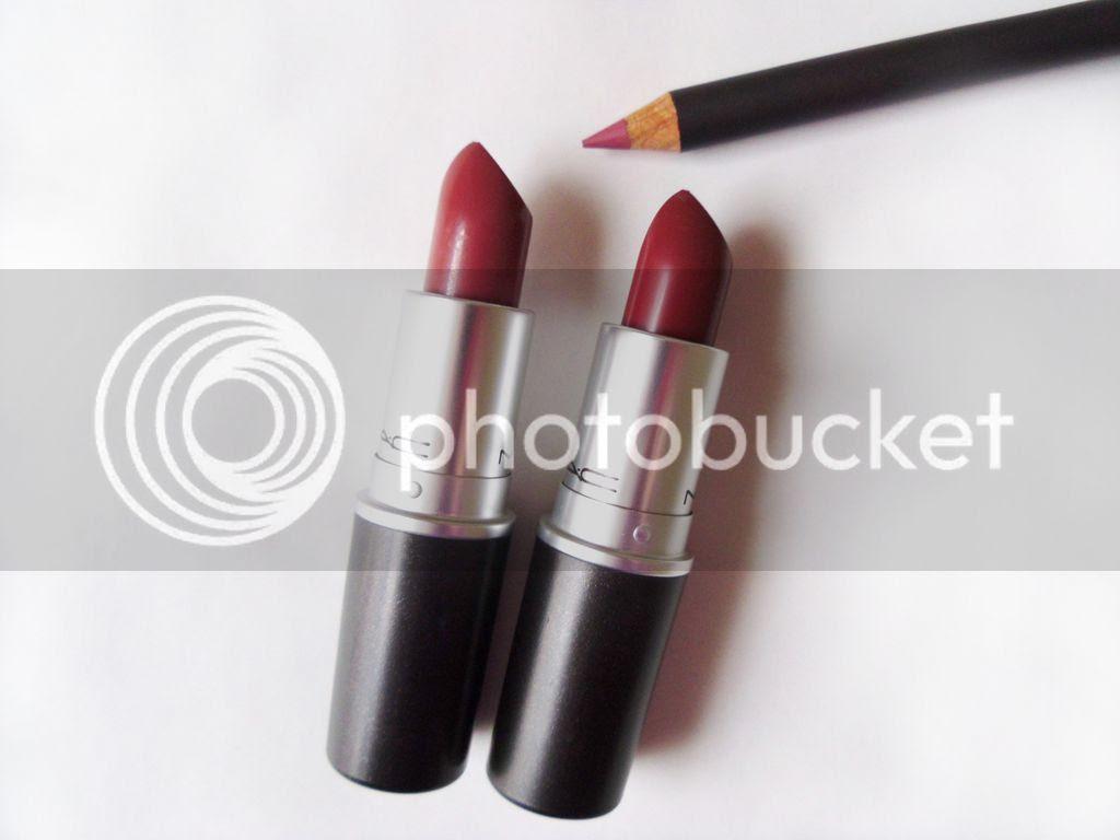 MAC Paramount Whirl lipstick, Soar lip pencil