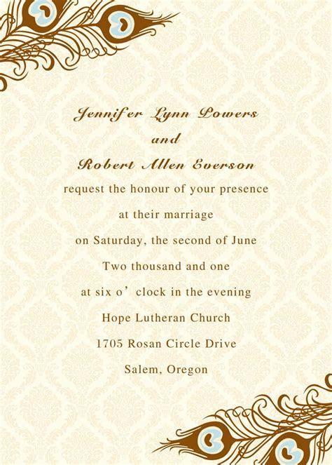 Peacock Wedding Invitations Online