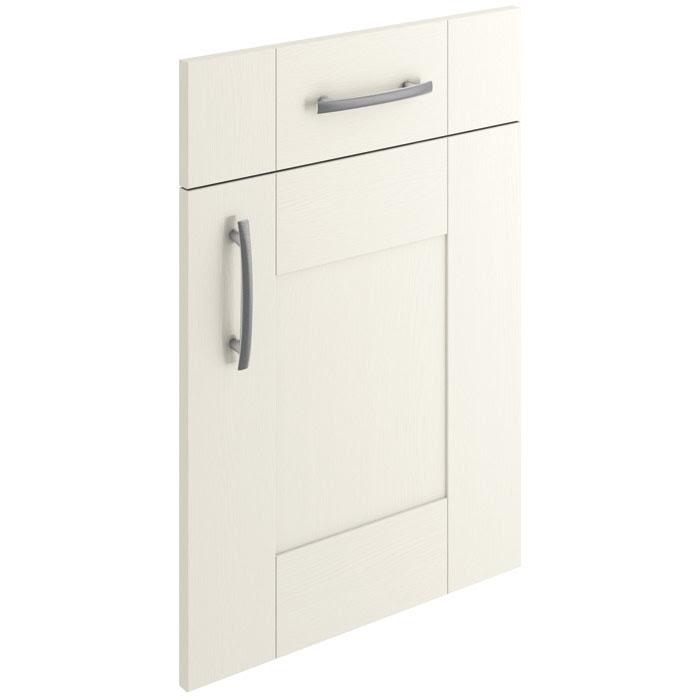 White Hand Painted Shaker Kitchen Doors - Aldo