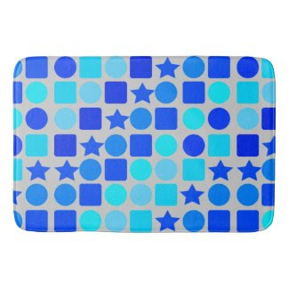 Stars, Circles 'n' Squares on Bathmat