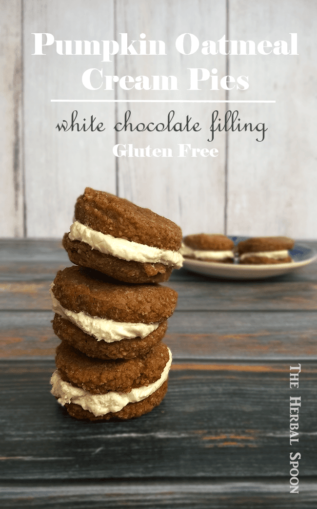 Pumpkin cream pies with white chocolate, cream cheese filling, GF and naturally sweetnened - The Herbal Spoon