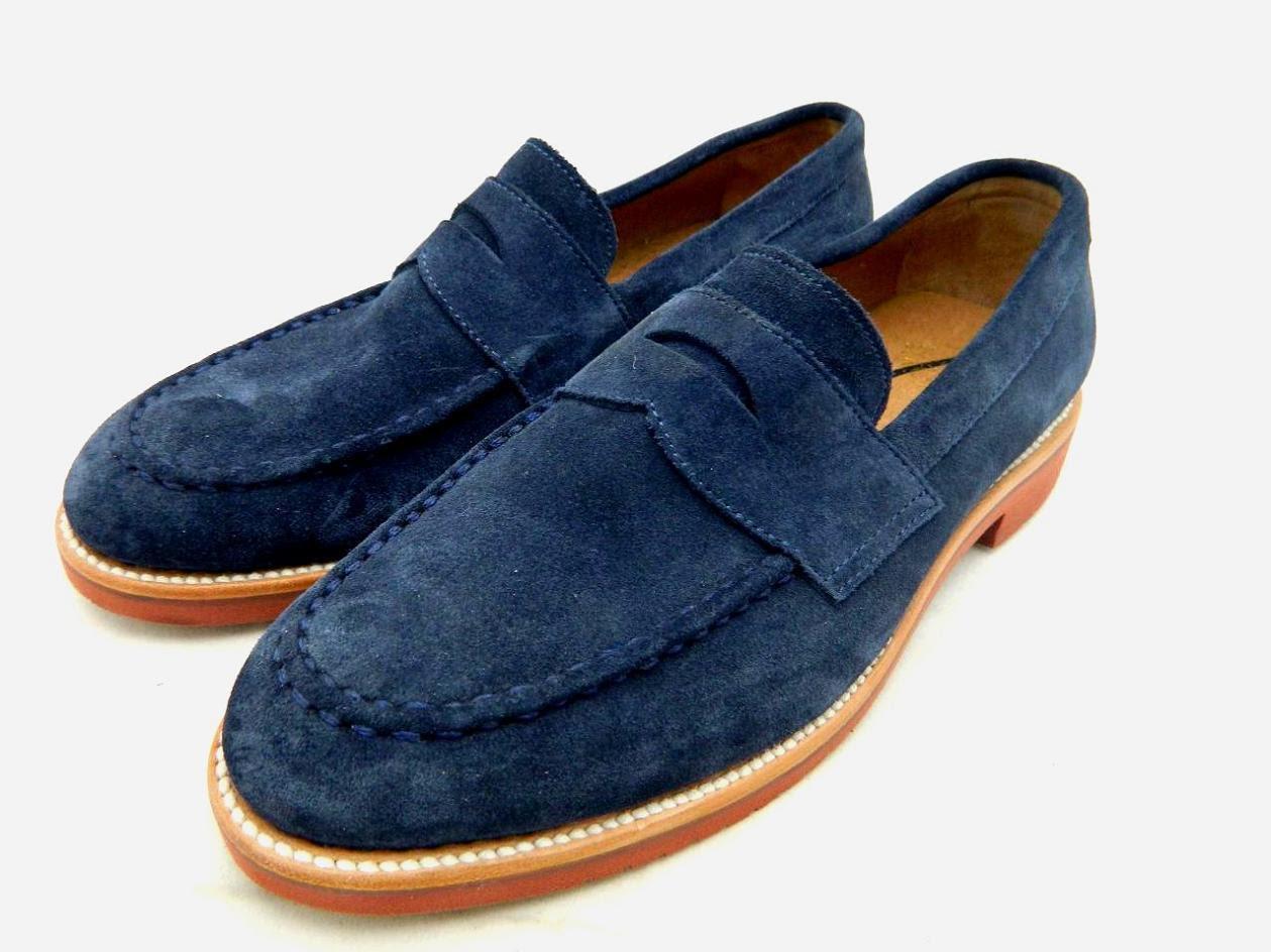 J.CREW Mens Kenton Suede Penny Loafers 10.5 navy $198 ...