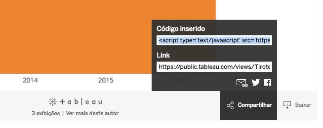 Tableau - Embed code