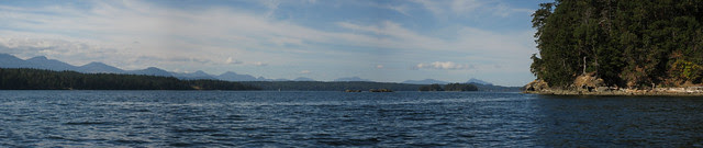 View NW along S side Wallace Island
