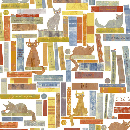 smarty cats fabric print