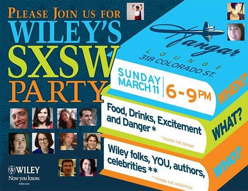 Wiley's SXSW Author Party 2012 by stevegarfield