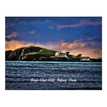 Burgh Island Hotel, Bigbury, Devon Postcard