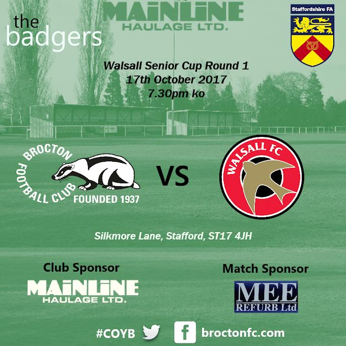 Walsall Senior Cup   Brocton 2 Walsall 3