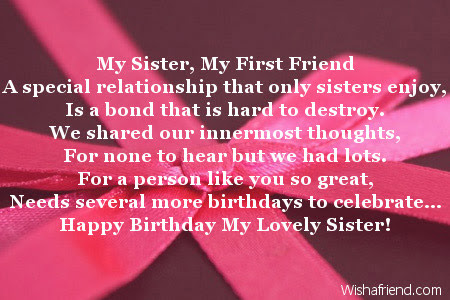 a for her sister on birthday 18th letter sister poems birthday