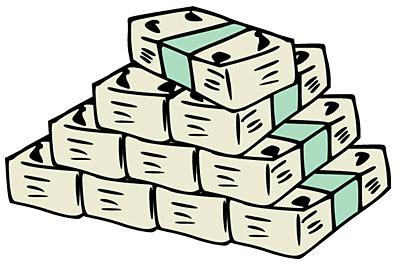 お金の素材 札束