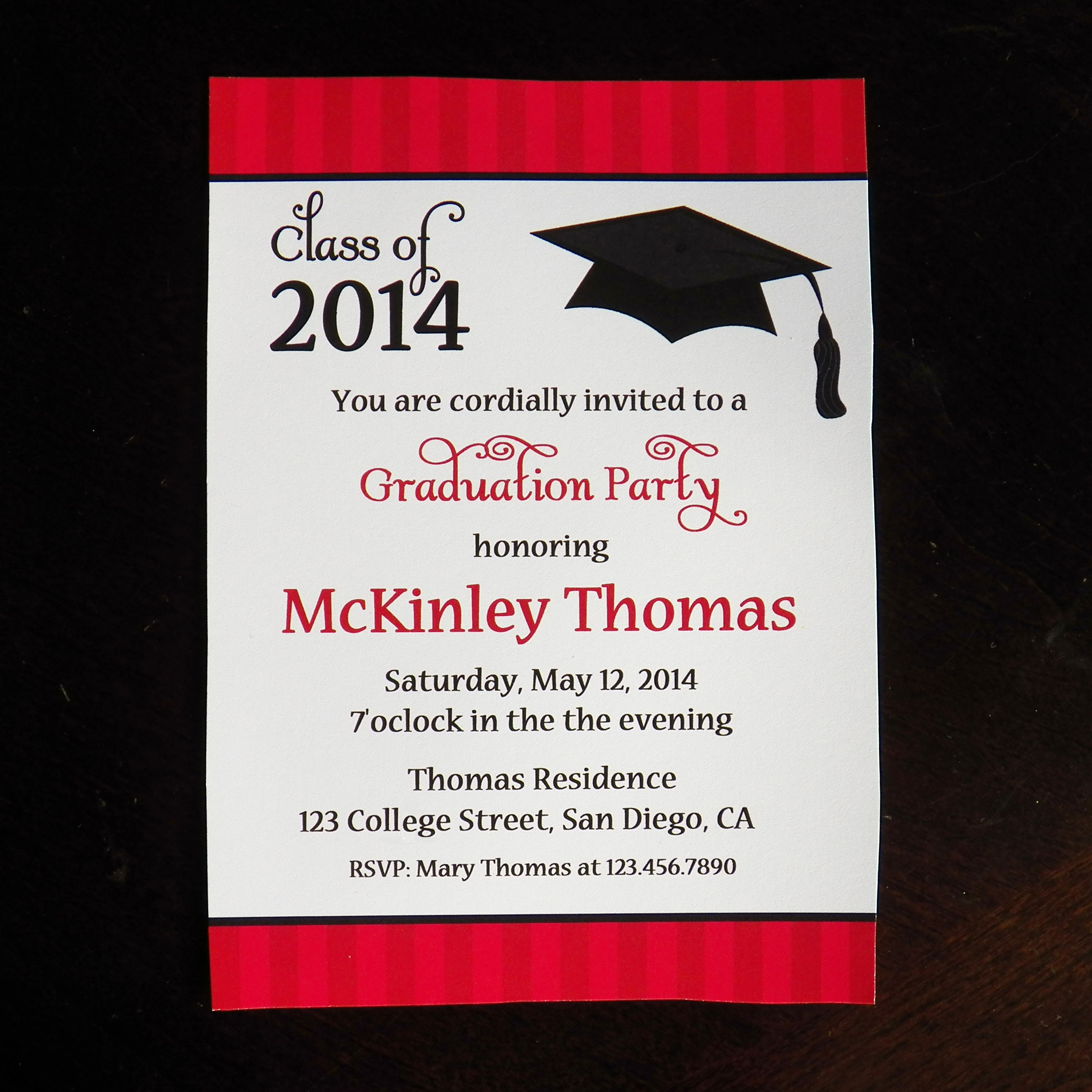 Graduation Party Hats Off To Mckinley That Party Chick