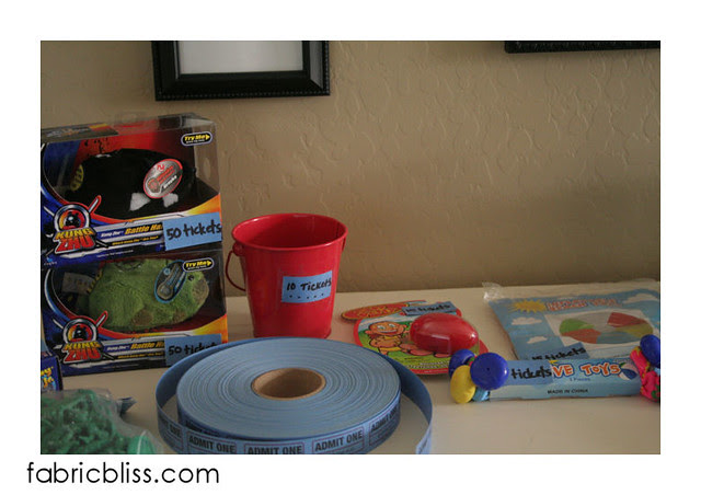 chore store bucket and toys