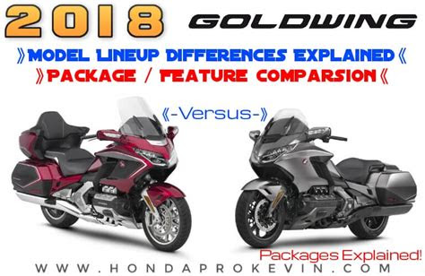honda goldwing   model lineup comparison
